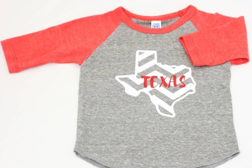 Nappy Shoppe Exclusives - Childs Raglan - Texas Chevron