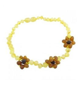 Amber Monkey Amber Necklace Flowers