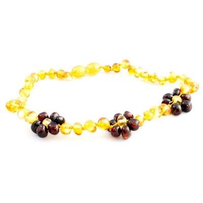 Amber Monkey Amber Necklace Flowers