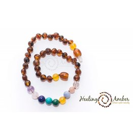 HA Adult Amber & Gemstone Necklace