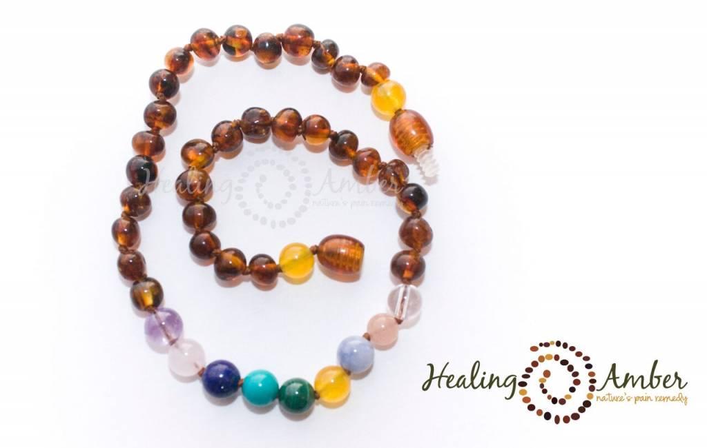 HA Adult Amber & Gemstone Necklace