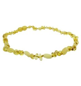 Amber Monkey Amber Monkey Necklace Lemon Baroque Milk Bean 17-18 Inch