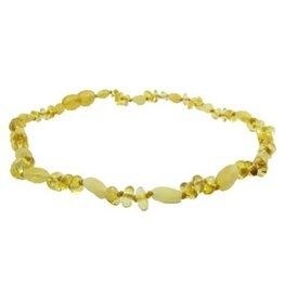 Amber Monkey Amber Monkey Necklace Lemon Baroque Milk Bean 17-18 Inch
