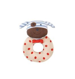 Organic Farm Buddies Boxer the Dog Teething Rattle