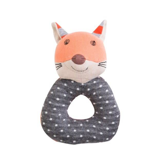 Organic Farm Buddies Frenchy Fox Teething Rattle