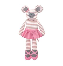 Organic Farm Buddies Ballerina Mouse Plush Toy