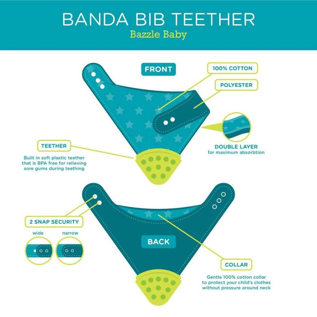 Bazzle Baby Bazzle Baby Banda Bib Teether 2 Pack