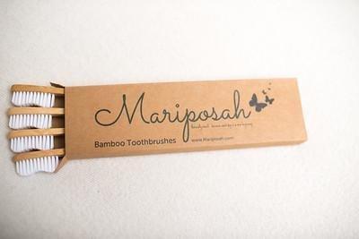 Mariposah Bamboo Toothbrush - Pack of 4