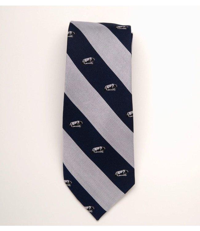 Global Neckwear  Penn State Striped Regimented Lion Shrine Tie