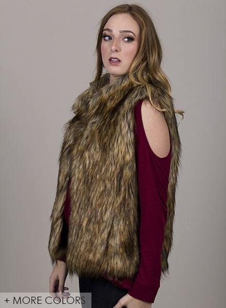 BB Dakota - Colton Faux Fur Vest