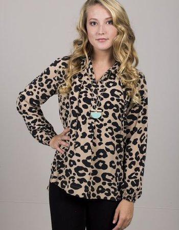 BuddyLove - Caitlyn Leopard Top