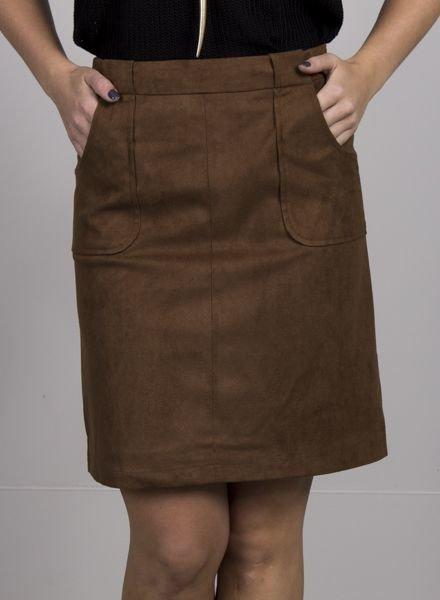 BB Dakota - Belfort Faux Suede Skirt