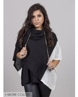 Wooden Ships - Colorblock Cowl Poncho
