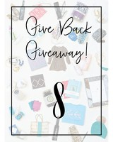 Give Back Giveaway! 8 Entries