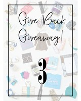 Give Back Giveaway! 3 Entries
