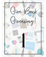 Give Back Giveaway! 1 Entry