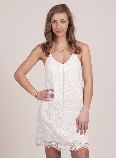 Eaden Shift Lace Slip Dress