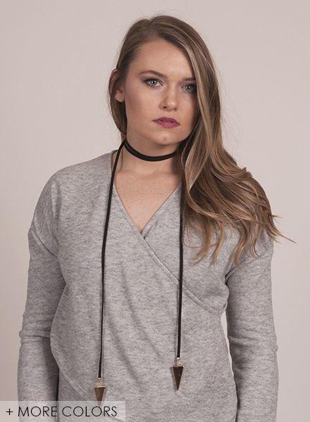 Ann Paige - Blair Arrowhead Wrap Necklace