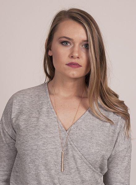 Ann Paige - Callie Bar Necklace