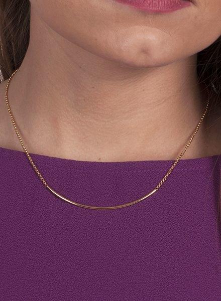 Ann Paige - Jamie Gold Bar Necklace