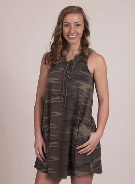 Z Supply - The Camo All Tied Up Dress