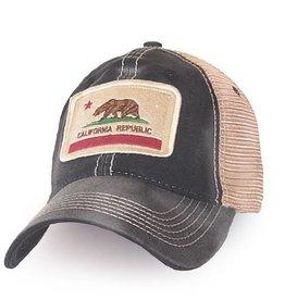 S.L. Revival Co. California State Flag Trucker Hat, Black