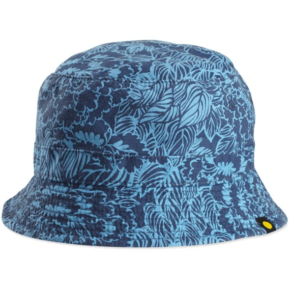 Life is Good Floral Beachside Bucket Hat, Bright Blue