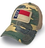 S.L. Revival Co. North Carolina Flag Patch Trucker Hat, Camouflage