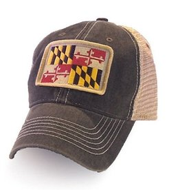 S.L. Revival Co. Maryland Flag Patch Trucker Hat, Black