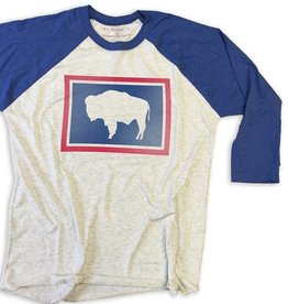 State Legacy Revival Wyoming Buffalo Baseball Tee, Assorted