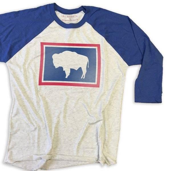 S.L. Revival Co. Wyoming Buffalo Baseball Tee, Assorted