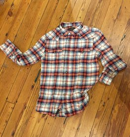 JACHS NY LLC Western Plaid Cotton Flannel, Orange