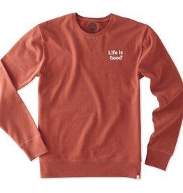 Life is Good M's Go to Crew LIG Bold, Earthy Rust