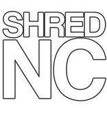 "Eastern Skate Supply Shred Stickers - Shred NC White, 5""x4.5"", Single"