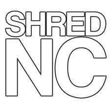 "Eastern Skate Supply Shred Stickers - Shred NC, 5""x4.5"", Single"