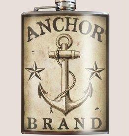 Trixie & Milo 8oz Flask Anchor Brand