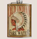 Trixie & Milo 8oz Flask Old Indian Fire Water
