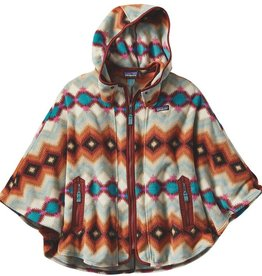Patagonia W's Lightweight Synch Poncho, Timber Twist: Cinder Red