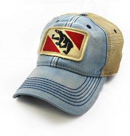 State Legacy Revival New Bern Flag Trucker Hat, Americana Blue