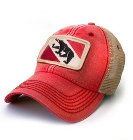 S.L. Revival Co. New Bern Flag Trucker Hat, Red