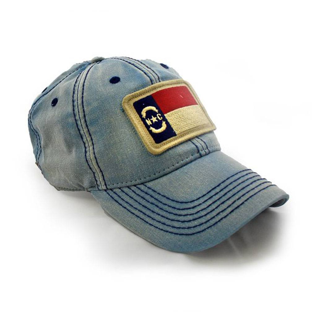 S.L. Revival Co. North Carolina Flag Patch Ballcap, Americana Blue