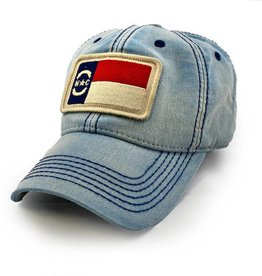 State Legacy Revival North Carolina Flag Patch Ballcap, Americana Blue