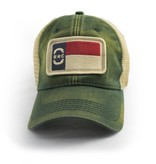 S.L. Revival Co. NC Flag Patch Trucker Hat, Green
