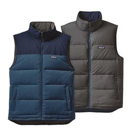 Patagonia Mens Reversible Bivy Down Vest, Glass Blue