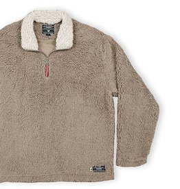 Southern Marsh Appalachian Pile Pullover, Light Brown with Oatmeal