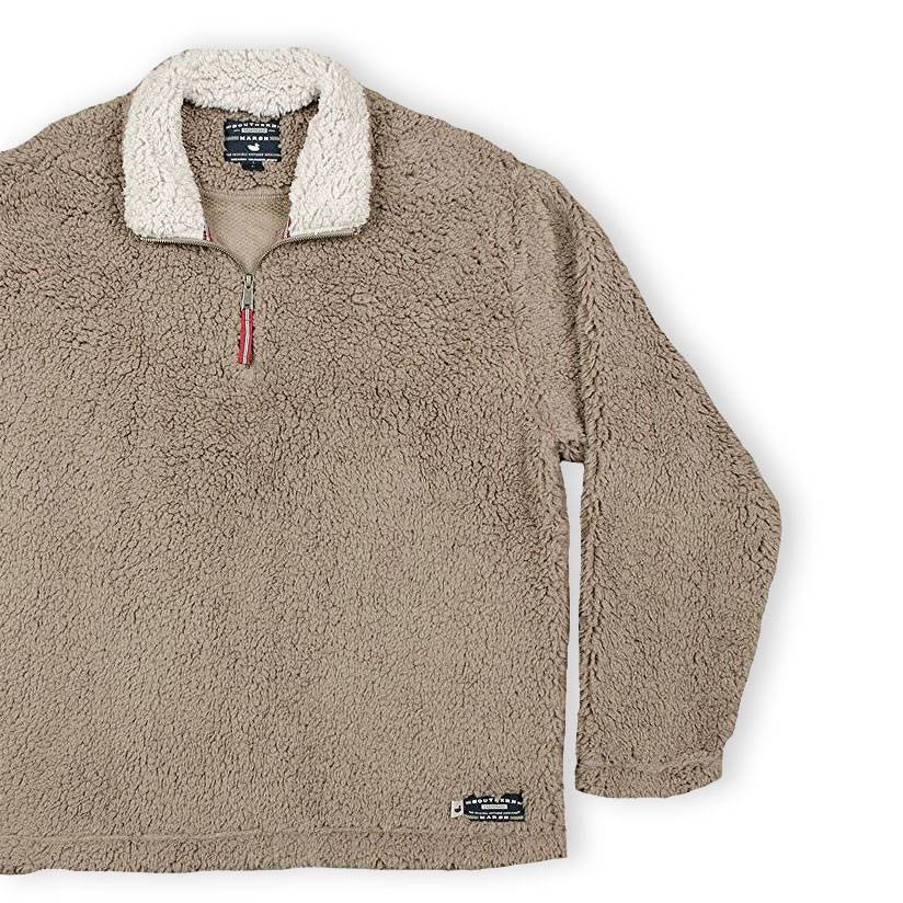 Appalachian Pile Pullover, Light Brown with Oatmeal