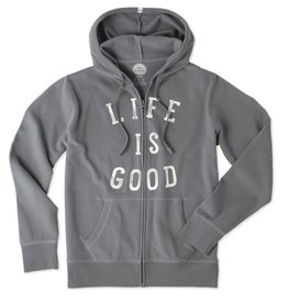 Life is Good W Go To Zip Hood Life is Good, Slate Grey