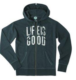 Life is Good M Go-To Zip Hood Life is Good, Balsam Green