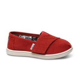 TOMS Tiny Classic, Red Canvas