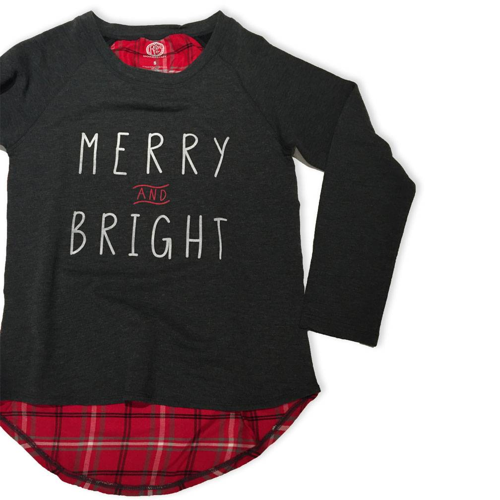 S.L. Revival Co. Merry and Bright Plaid Pullover